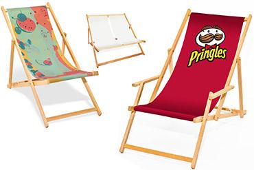 Holz-Liegestühle mit Ihrem Logo