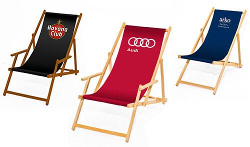 Liegestühle mit Ihrem Logo